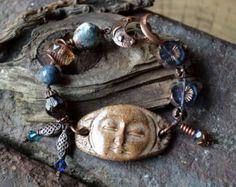 SOLD to Maryjo Earthy Bohemian Bracelet Lampglass by JeSoulStudio