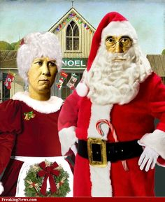 American Gothic, North Pole-style.