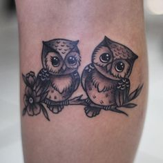 Add another owl. This would be good for a cover up – foot tattoos for women Baby Owl Tattoos, Cute Owl Tattoo, Owl Tattoo Small, Baby Feet Tattoos, Small Bird Tattoos, Foot Tattoos For Women, Tattoos For Guys, Owl Foot Tattoos, Circle Tattoos