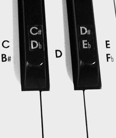Piano Keyboard Sticker Set