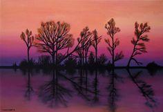 Easy+Canvas+christmas+Painting+Ideas | Original Painting - Reflected | Gogo Korogiannou