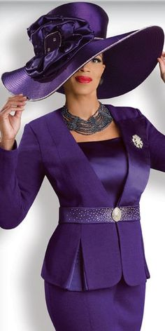 Image detail for -... view of the Donna Vinci Knits 2918 Womens Purple Church Suit image