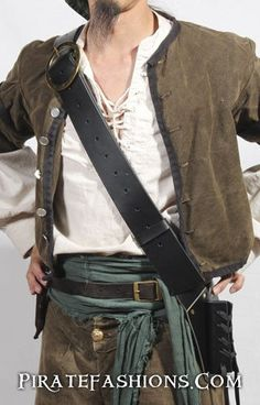 Doing research on what sailors really wore, we came across a real example of a Navy Baldric, which this one is patterned after. Due to the cramped nature of shi