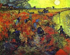 Vincent van Gogh - Red Vineyards of Arles. Pushkin Museum of Fine Art, Moscow. In his lifetime Van Gogh sold only one painting, and this is the one ! Van Gogh Pinturas, Van Gogh Art, Art Van, Paul Gauguin, Desenhos Van Gogh, Art Encadrée, Painting Prints, Art Prints, Spray Painting