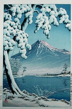Kawase Hasui - Mt. Fuji Seen from Tagonoura, - 1932