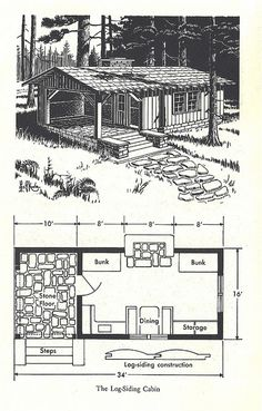 mansion mansion in the woods wilderness cabin 6 Small Cabin Plans, Cabin House Plans, Cabin Floor Plans, Tiny House Cabin, Tiny House Design, Cabin Homes, Small House Plans, Tiny Cabins, Cabins And Cottages