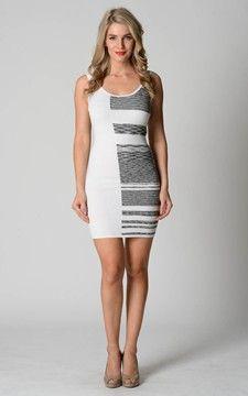 Dress-037SS-WhiteBlack