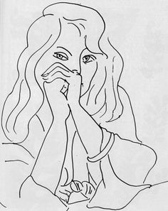 Henri Matisse A Woman with Loose Hair, 1944, ink on paper.
