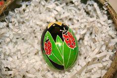 Ladybugs Ukrainian Egg by StiglianoDesigns on Etsy