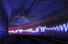 LED Neon Light Rope - HC Gijle - The fantoft-paradis tunnel for bybanen in Bergen