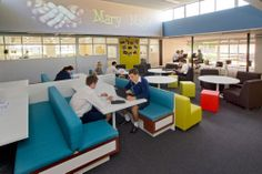 Changing learning spaces can be the impetus for pedagogical change School Library Design, School Libraries, Classroom Design, Future Classroom, Classroom Furniture, Library Furniture, Library Inspiration, Library Ideas, Cafeteria Design