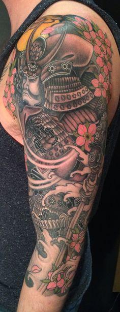 Samurai 3/4 sleeve tattoo