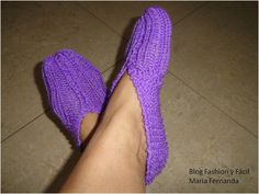 Fashion y Fácil DIY: ¿Cómo tejer unos slippers o pantuflas fáciles en tres pasos? (How to make knit slippers in just three steps)
