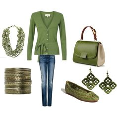 not all greens look bad on me :), created by debbi-deisher-barr