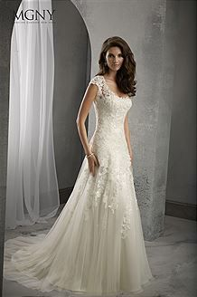 Love the fit of this dress... one day! Bridal Gowns Madeline Gardner 39025 Bridal Gown Image 1