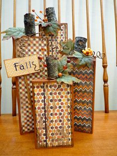 2x4 Crafts, Wooden Crafts, Diy Arts And Crafts, Autumn Crafts, Thanksgiving Crafts, Holiday Crafts, Holiday Ideas, Fall Halloween, Halloween Crafts