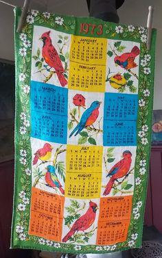 1973 Calendar Tea Towel