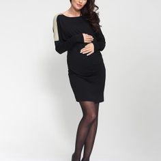 prachtige #positiejurk uit de #zwangerschapscollectie van #9fashion #zwanger #baby #positiefeestkleding #zwart