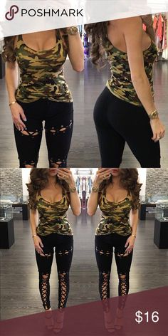 Sexy Camo Racerback Tank Brand new fits a size small Tops Tank Tops