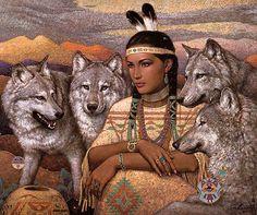 woman wolf2