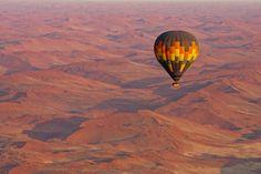 See the Namib desert from the sky in a hot-air balloon on our 10 Day Luxury Namibia Safari Tanzania, Safari Online, Reserva Natural, Namib Desert, Air Balloon Rides, Holiday Accommodation, Wilderness, Kayaking, Nostalgia
