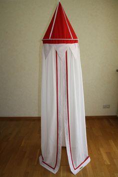 Betthimmel - Betthimmel rot / Punkte - ein Designerstück von maralinchen-textilraum bei DaWanda