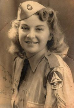 Cadet Sgt. Mary Ellen DeDominicis Chestnut, High School Civil Air Patrol, she served on the Home Front during WWII. Their mission was to watch for German Submarine's wakes in Miami Harbor ~