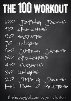 the-100-workout - Crossfit style at home workouts that need no equipment and are for any fitness level!
