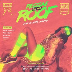 """Confira este projeto do @Behance: """"Flyers for Reggae on the Roof"""" https://www.behance.net/gallery/42788879/Flyers-for-Reggae-on-the-Roof"""