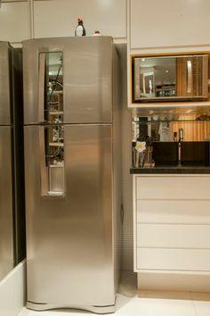 French Door Refrigerator, Kitchen Appliances, Home, Small Kitchens, Cob House Kitchen, Parents, Profile, Diy Kitchen Appliances, Home Appliances
