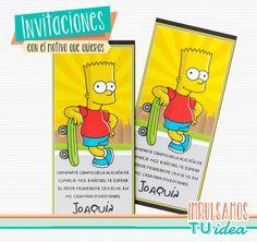 Bart Simpson - Diseño de invitación para imprimir