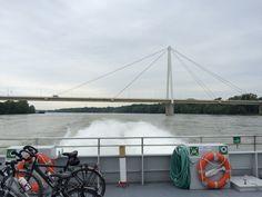 Hydrofoiling down the Danube.