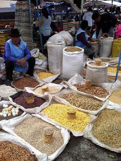 Beans for fanesca soup in Ecuador