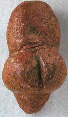 The Venus of Die Rote von Mauern - the Red Venus from the Weinberghöhlen near…
