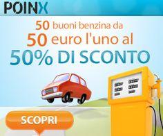 Offerta da non perdere! Carburante scontato del 50% su Poinx!