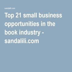 profitable small business | Small business opportunities ...