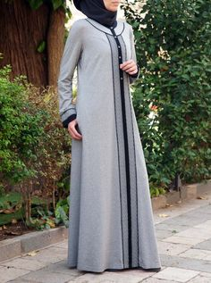 SHUKR's long dresses and abayas are the ultimate in Islamic fashion. Halal standards, ethically-made, international shipping, and easy returns. Abaya Fashion, Modest Fashion, Fashion Outfits, Hijab Evening Dress, Moslem Fashion, Hijab Style Dress, Stylish Dresses For Girls, Muslim Women Fashion, Abaya Designs