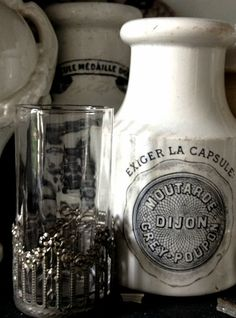 Lessons from the Brocante - Fleaing France  Coaster that goes up the side of the glass -love