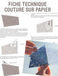 pdf sur bureauquilting technique comment pas à pas explications couture sur papier editions saxe edisaxe