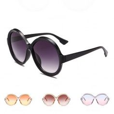Wholesale round sunglasses from China, great deal on oval frame, cheap and reliable shipping without any minimum order requirement. Oversized Round Sunglasses, Oval Frame, Classic Style, Fresh, Modern, Trendy Tree, Classy Style