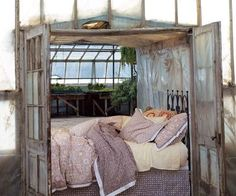 Whether hung on the wall or transformed into furniture, we love the idea of repurposing old windows and doors for use in the home.
