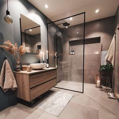 Find here some special colors for bathrooms and see your whole bathroom transform into a great interior design with some simple steps. Bathroom Colors, Home Interior Design, House Interior, Bathroom Interior Design, Bathroom Decor, Beautiful Bathrooms, Modern Bathroom Design, Home Decor, Budget Home Decorating