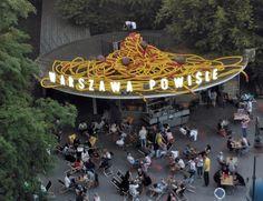 Spaghetti on the railway station roof, Warszawa, Poland.  Artists: Hubert Gromny, Xawery Wolski.