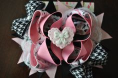 Paris Amour Boutique BowValentines Day by threepeasboutique, $10.50