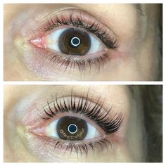 5328586d70c Lash lift before and after . there is no mascara in this photo by  @feeltheheal