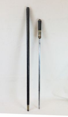 Cane sword 36 overall length blade 21 long by arusantiques on Etsy