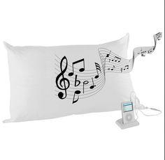 Test Kopfkissen Kissen Mit Kopfhörer Musik Hören