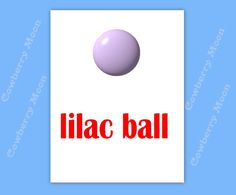 "Teach Baby to Read Book ""lilac ball"" Page Instant Download,Homeschool Book ""lilac ball"" Page,Learn To Read Printable  Page,Flashcards by CowberryMoon on Etsy"