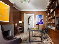 Contemporary Office and Study in New York, NY by Shawn Henderson Interior Design