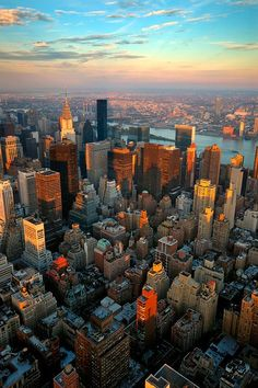 New York skyline. New York city, seen from the Top of the Rock , City Aesthetic, Travel Aesthetic, Empire State Of Mind, Empire State Building, New York City, Places To Travel, Places To Go, Travel Destinations, City Vibe